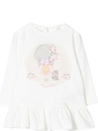 Monnalisa White Baby Girl Maxi T-shirt