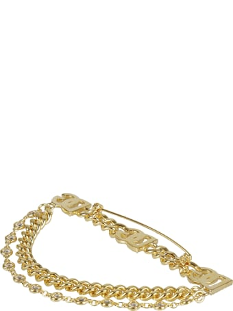 Dolce & Gabbana Logo Embellished Chain Brooch