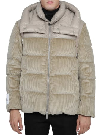 DRM Beige Hybrid Puffer Jacket
