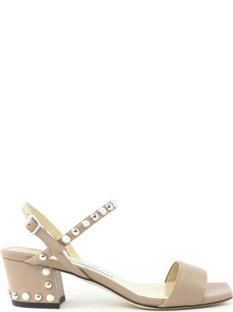 Jimmy Choo Rose Nappa Leather Sandal