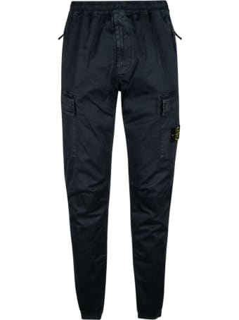 Stone Island Logo Patched Cargo Pants