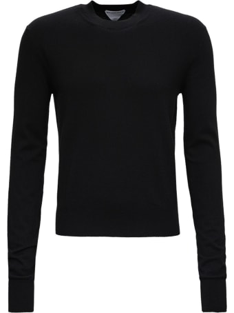 Bottega Veneta Black Sweater In Cashmere Blend
