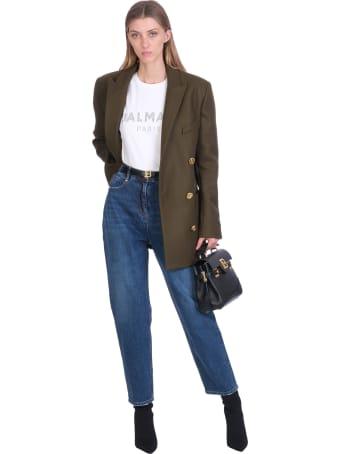 Balmain Jeans In Blue Denim