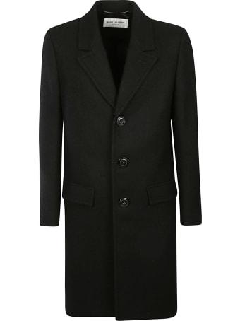 Saint Laurent Classic Plain Buttoned Coat