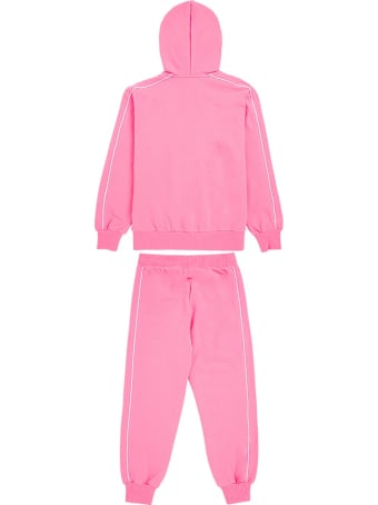 Moschino Pink  Cotton Hoodie And Jogger Suit