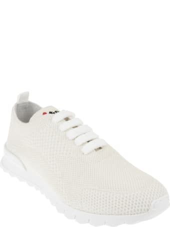 Kiton Woman Running Sneakers In Beige Cashmere