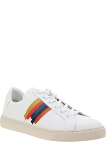 Paul Smith Hansen White Paint Sneakers