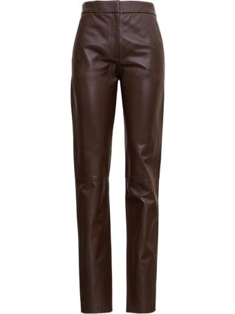 Federica Tosi Brown Leather Pants