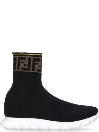 Fendi Logo Knitted Sneaker