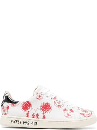 M.O.A. master of arts Mickey Mouse Leather Sneakers