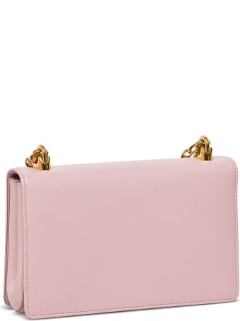 Dolce & Gabbana Dg Girl Crossbody Bag In Pink Leather