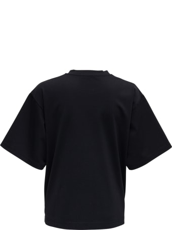 Dolce & Gabbana Black Cotton T-shirt With Top Model Front Print