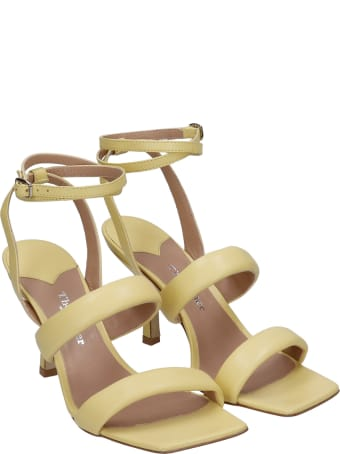 The Seller Sandals In Yellow Leather