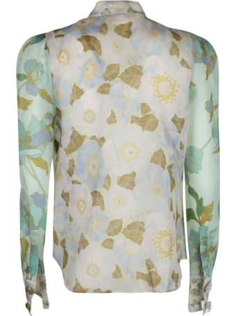 Zimmermann Mint Mixed Print Shirt