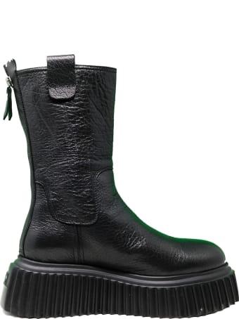 Attilio Giusti Leombruni Agl Black Leather Ankle Boots