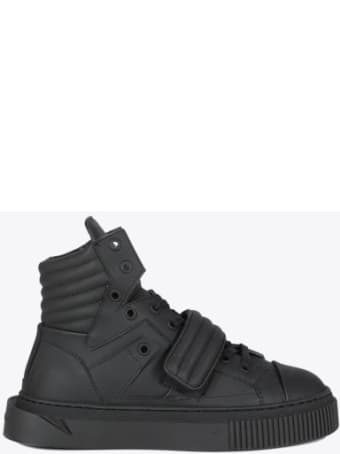 Gienchi Hypnos Black Leather Sneaker