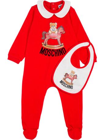 Moschino Babygrow And Bib Gift Set