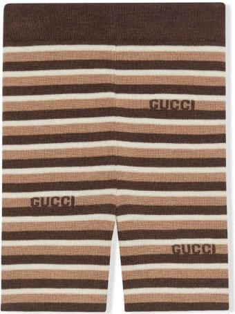 Gucci Baby Gucci Stripe Wool Shorts