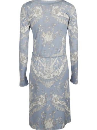 Emilio Pucci Pattern Print Belted Dress