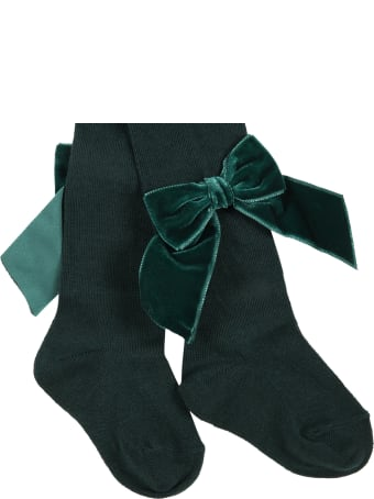 Story loris Green Tights For Girl With Bow