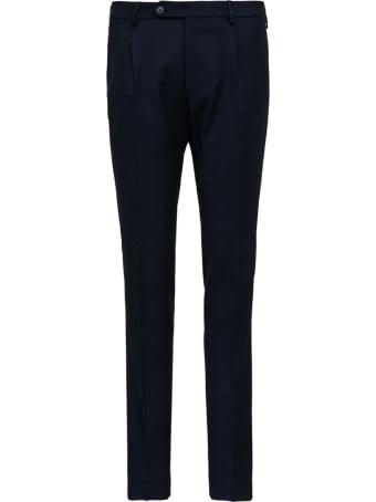 Berwich Blue Velvet Pants