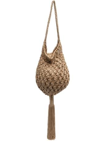 Parosh Braided Handbag With Tassel