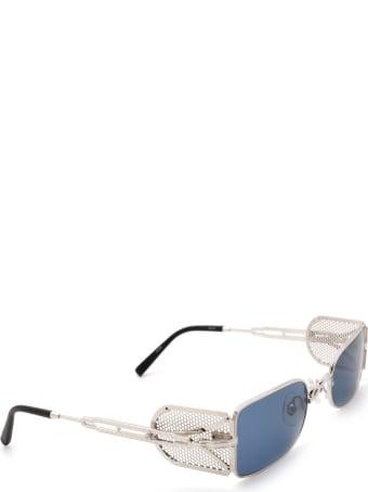 Matsuda Matsuda 10611h Palladium White / Brushed Silver Sunglasses