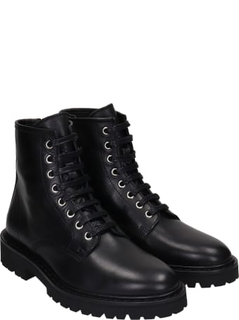 IRO Faye Combat Boots In Black Leather