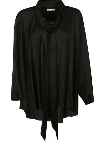 Balenciaga Scarf Detail Oversized Shirt