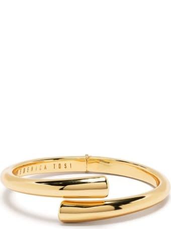 Federica Tosi Tube Bracelet In Golden Brass