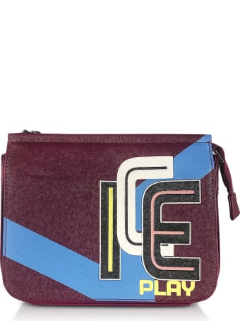 Ice Iceberg Ice Play Color Block Saffiano Eco Leather Camera Bag