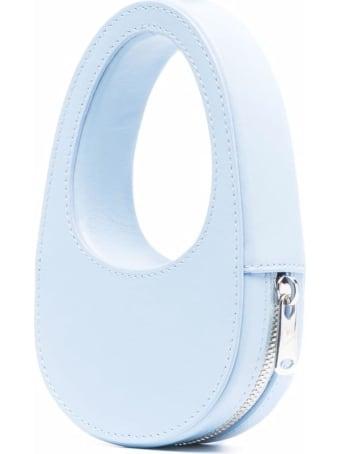 Coperni Light Blue Leather Mini Swipe Crossbody Bag