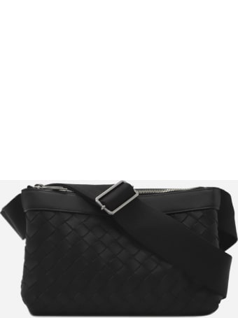 Bottega Veneta Leather Shoulder Bag With All-over Woven Pattern