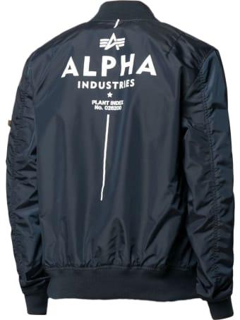 Alpha Industries Blue Bomber Jacket
