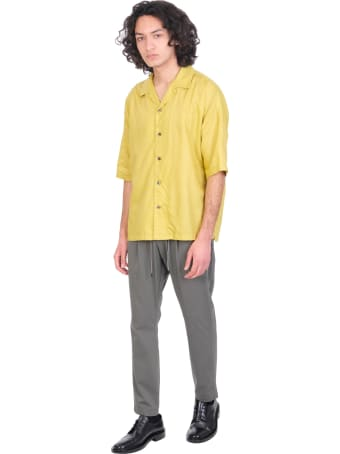 Attachment Shirt In Yellow Synthetic Fibers