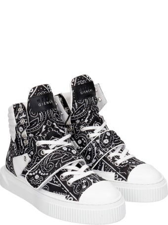 Gienchi Hypnos Sneakers In Black Leather And Fabric
