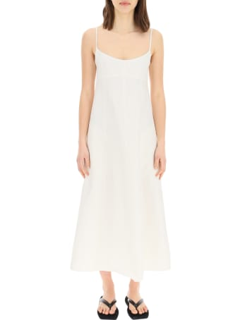 Totême Maxi Dress In Linen And Cotton