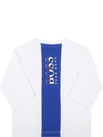 Hugo Boss White T-shirt For Baby Boy With Logo
