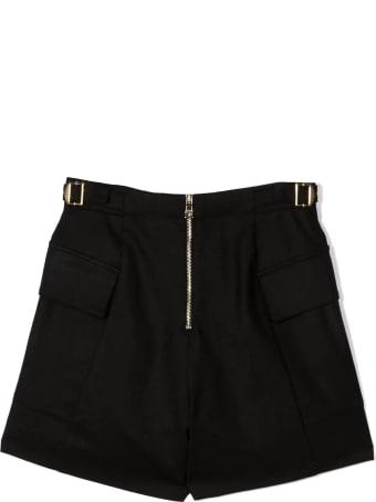 Balmain Black Virgin Wool Blend Shorts