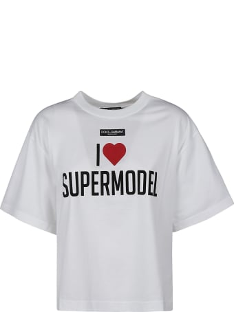 Dolce & Gabbana Logo Patched Printed T-shirt