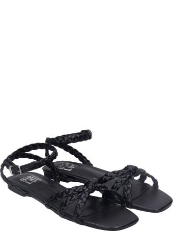 Bibi Lou Flats In Black Leather