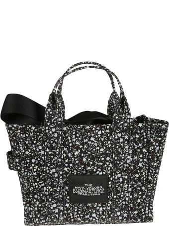 Marc Jacobs Logo Patched Floral Printed Shopper Bag