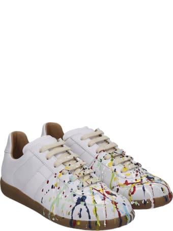 Maison Margiela Replica Sneakers In White Leather