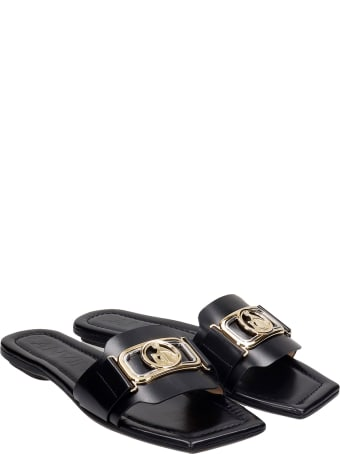 Lanvin Flats In Black Leather