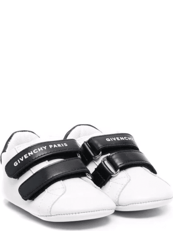 Givenchy White And Black Baby Sneakers With Logo