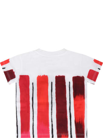 Dolce & Gabbana White T-shirt For Baby Kids With Crown
