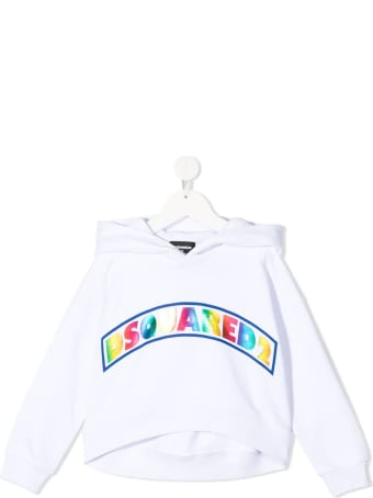 Dsquared2 White D2kids Colored Hoodie