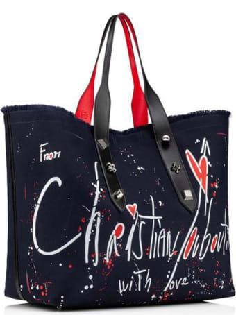 Christian Louboutin Black Fabric Frangibus Bag