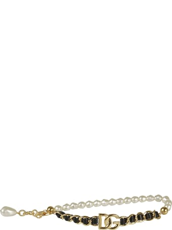 Dolce & Gabbana Logo Plaque Chain Bracelet