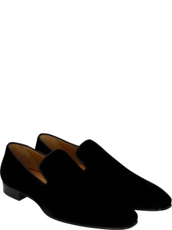 Christian Louboutin Dandelion Loafers In Black Velvet